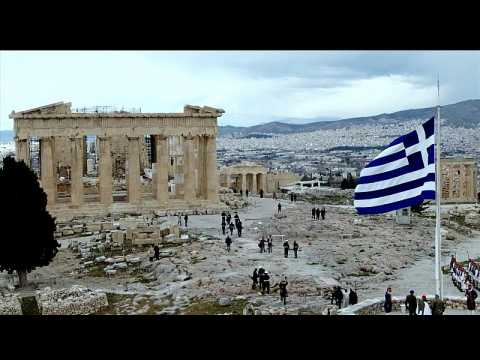 Greek flag hoisted at Acropolis as nation celebrates revolution bicentennial