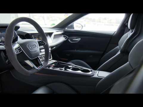 Audi RS e-tron GT Interior Design in Tactical Green