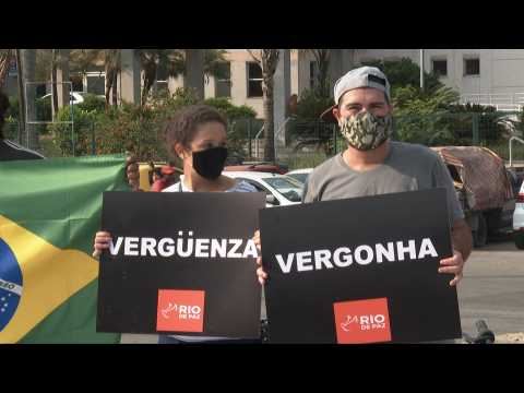 Protest in Rio against government as Brazil reaches 300,000 Covid-19 deaths