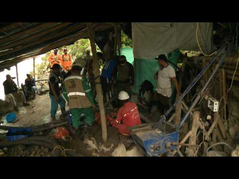 Search on for 11 trapped in illegal goldmine in Colombia