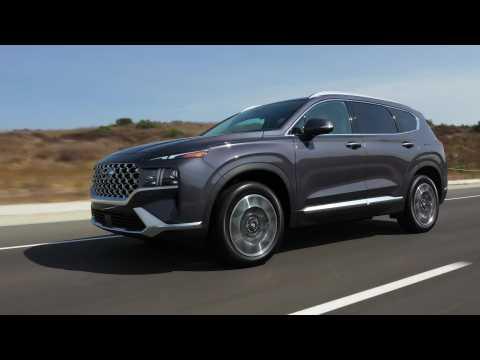 2021 Hyundai Santa Fe Hybrid Driving Video