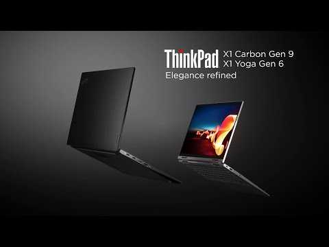 ThinkPad X1 Carbon Gen 9 and X1 Yoga Gen 6 Product Tour