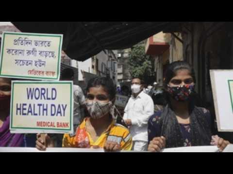 Covid-19 awareness rally in Kolkata to mark World Health Day