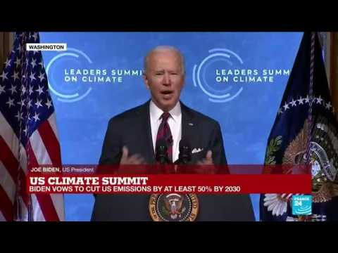 Biden vows to cut US emissions by at least 50% by 2030