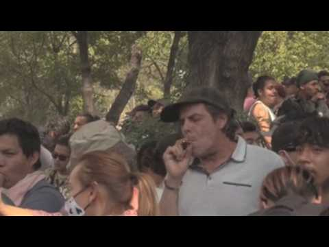 Thousands in Mexico celebrate marijuana day with demands for future law