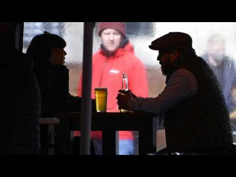 COVID lockdown easing: Eager drinkers queue at midnight as beer gardens reopen in England