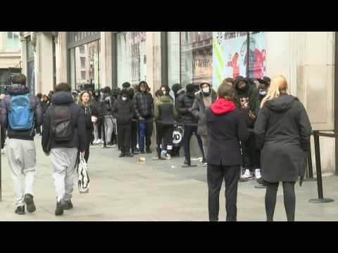 Shops reopen on London's Oxford Street amid restrictions easing in England