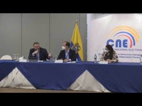 The presidential elections in Ecuador show the political division in the country