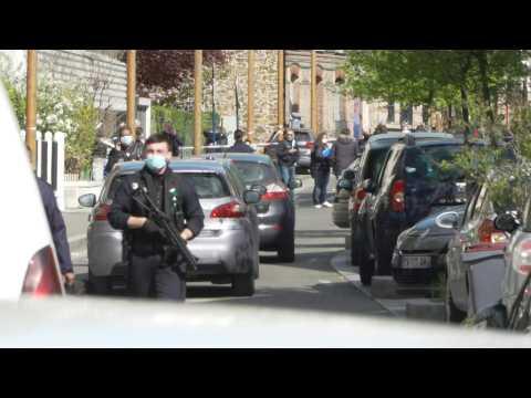 Police at scene of shooting near Paris, 10-year-old girl shot