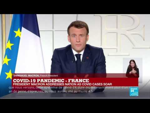 REPLAY: French President Emmanuel Macron adresses nation as Covid-19 cases soar