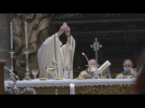 Pope Francis leads Thursday mass at St. Peter's Basilica