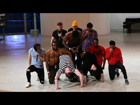 New York's Guggenheim Museum hosts pop-up hip hop performance