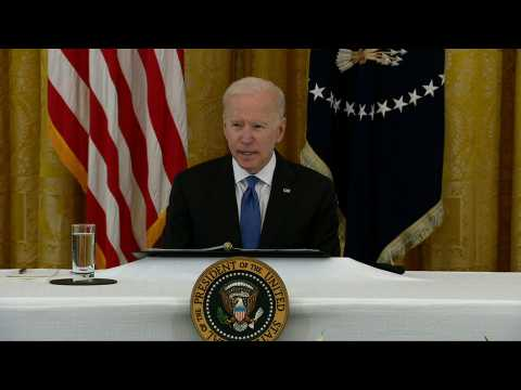 President Joe Biden holds first cabinet meeting at the White House
