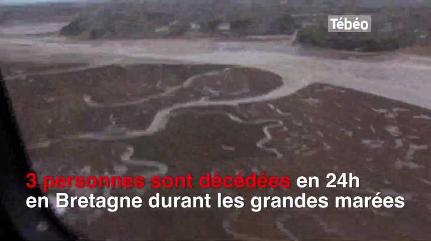 Thumbnail Grandes marées : 3 décès en Bretagne