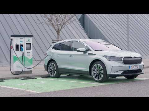 The new SKODA ENYAQ iV Design in Arctic Silver