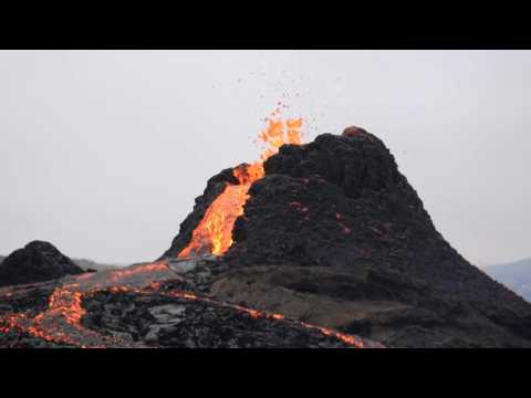 Visitors gather as Icelandic volcano subsides following eruption