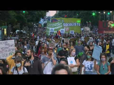 Argentina joins World Water Day protest as fires ravage southern Patagonia