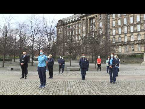 Scottish health workers take part in national minute's silence for Covid victims