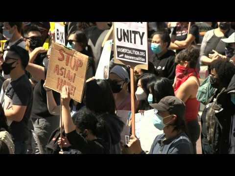 Los Angeles residents rally against anti-Asian violence