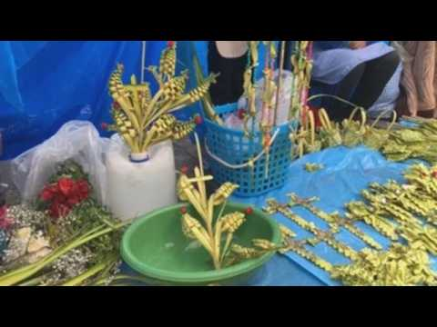 Bolivians celebrate Palm Sunday
