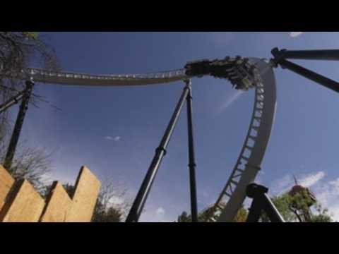 Los Angeles Six Flags Magic Mountain amusement park reopens