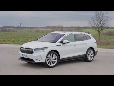 The new SKODA ENYAQ iV Design in Moon White
