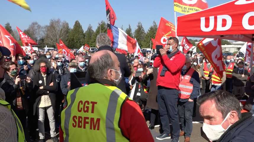 Thumbnail Fonderie de Bretagne : un millier de manifestants
