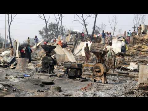 Fire at Rohingya camp in Bangladesh kills at least 15