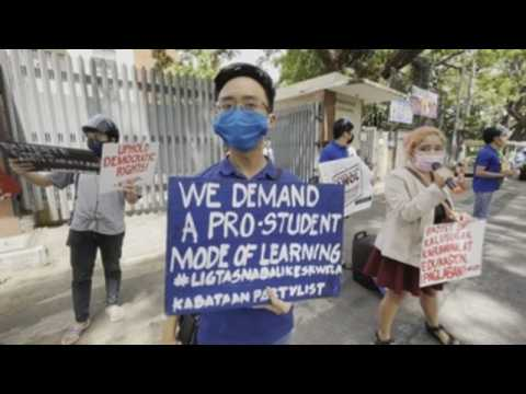 Protesters in Philippines call for improved education programs amid COVID-19 pandemic
