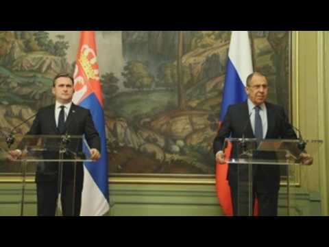 Russian Foreign Minister Lavrov meets with Serbian counterpart Selakovic