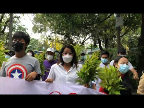 Myanmar protesters march to support shadow national unity government