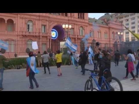 Citizens protest against new COVID-19 measures in Buenos Aires amid second wave