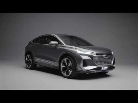 The new Audi Q4 Sportback e-tron concept Exterior Design in the studio