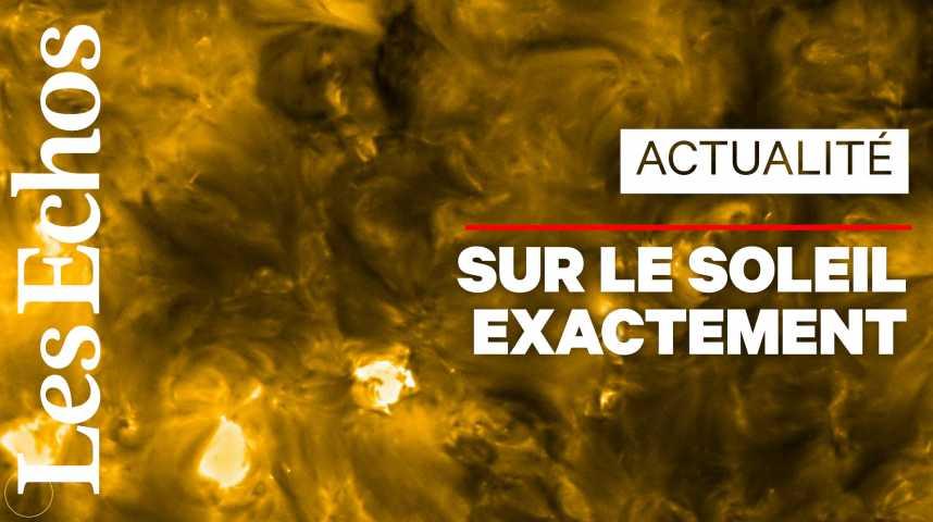 Illustration pour la vidéo Des «feux de camp» sur le Soleil