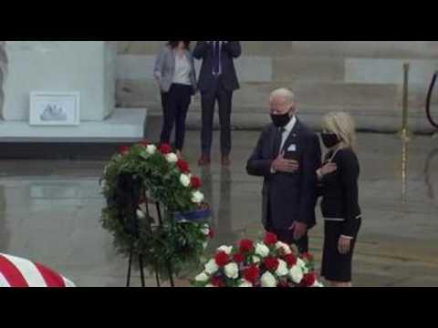Biden joins tribute to honor civil rights hero John Lewis