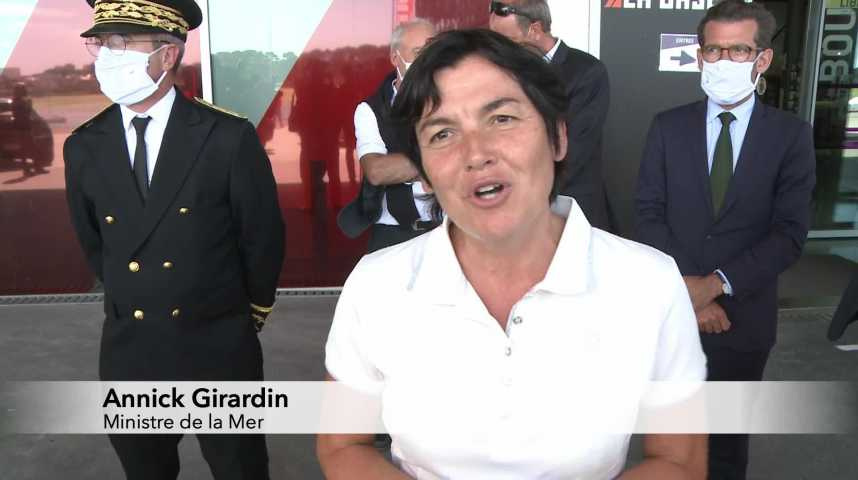 Thumbnail La nouvelle Ministre de la Mer a choisi Lorient pour sa première visite