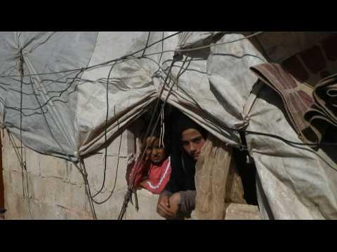 Displaced Syrians prepare for Eid al-Adha in Idlib camp