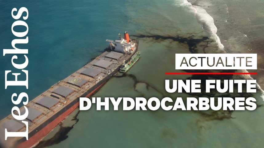 Illustration pour la vidéo A l'Île Maurice, une marée noire provoque l'état d'urgence