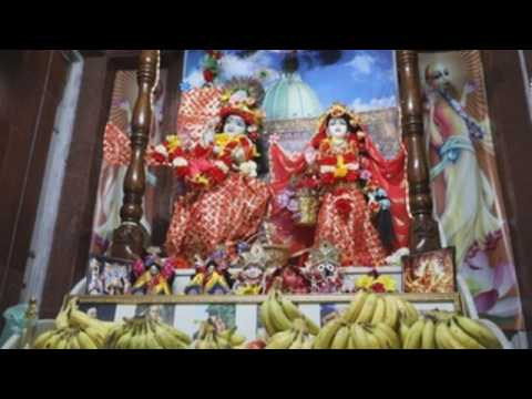 Devotees in India celebrate birthday of Hindu god Lord Krishna