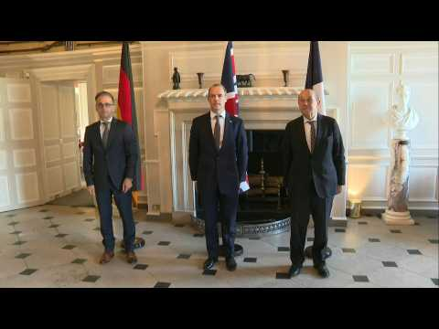British, French and German Foreign ministers meet in Chevening