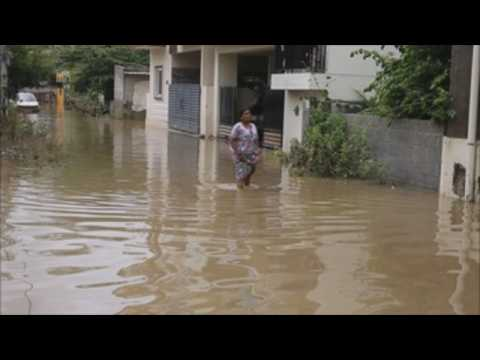 Heavy rains in Bangalore leave city flooded
