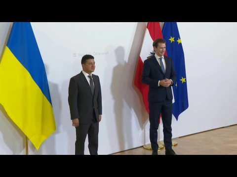 Ukrainian President Zelensky meets Austria's Kurz in Vienna