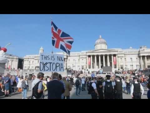 Anti-vaccine activists, anti-lockdown protesters took to the streets of London