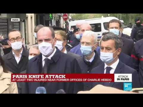 French Prime Minister Castex arrives on scene of Paris stabbing