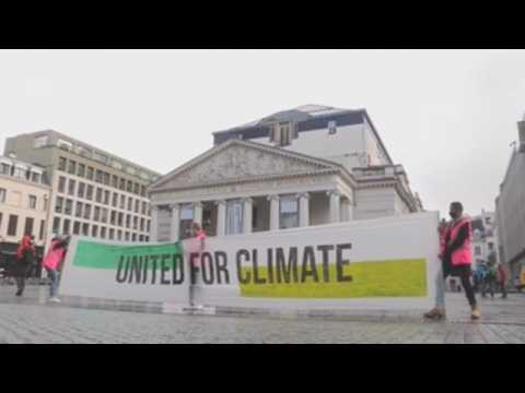Protest in Brussels on Global Day of Climate Action