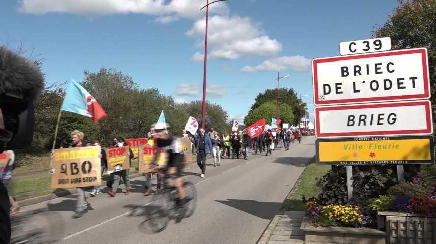 Thumbnail Amazon à Briec : les opposants dans la rue