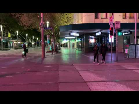 Melbourne's CBD remains empty as curfew ends and restrictions ease