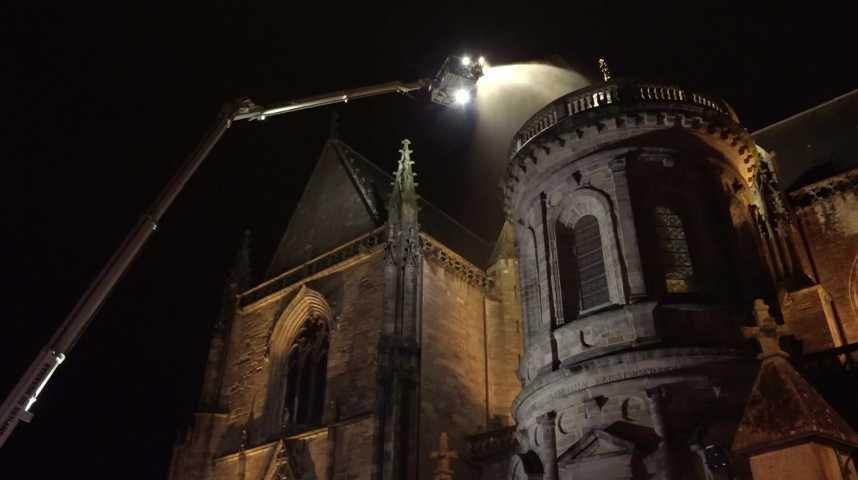 Thumbnail Exercice incendie sur la cathédrale de Vannes