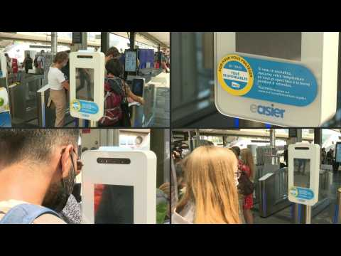 French rail operator experiments with temperature terminals at Paris train station
