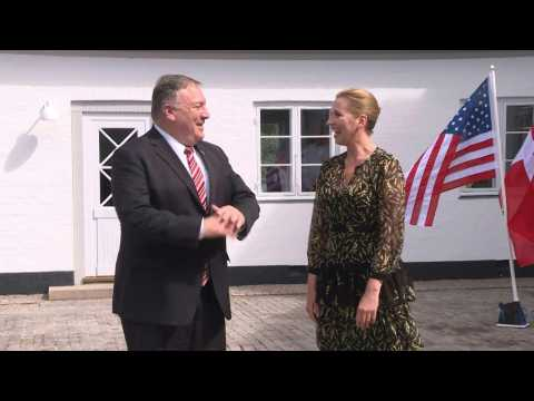 US secretary of State Pompeo meets with Danish Prime minister